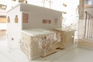 旗竿地に建つ家 MIA 模型