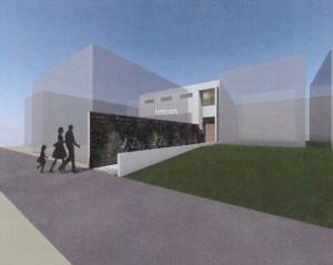 旗竿地に建つ家 片岡英和建築研究室 模型